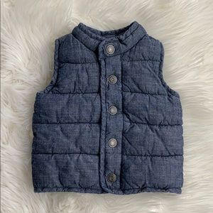 Old Navy chambray vest - size 6-12 months
